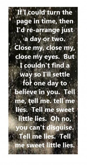 ... Lies - song lyrics, song quotes, songs, music lyrics, music quotes