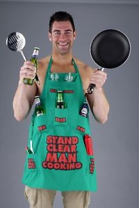Stand-Clear-Man-Cooking-Novelty-Cooking-Apron-Funny-Mens-Chef-Aprons ...