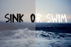... students, it's sink or swim (Image source: luvimages.com