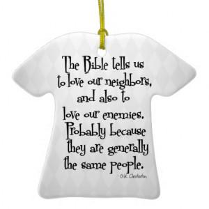 funny_christian_religious_quote_gk_chesterton_ornament ...