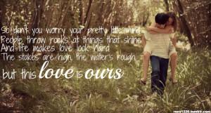 With lyrics, quotes, sayings, lyrics quotes lyrics not so alone