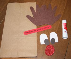 reindeer christmas gift bag paper bag craft for kids