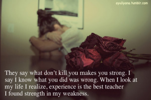 Done Crying Over You Quotes