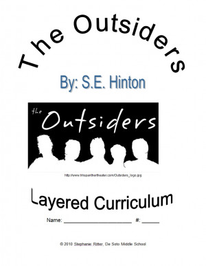 Outsiders Book Worksheets