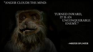 Some wisdom from Master Splinter.