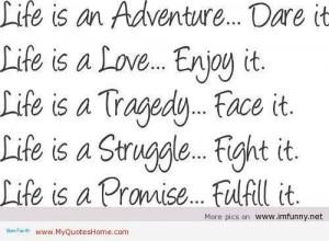 Life struggle love quotes