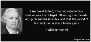 am proud to find, from two astronomical observations, that Chapel Hill ...