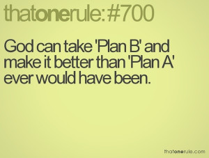 Plan B - Quote _ #That one rule