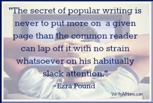Ezra Pound Quote. He was amazing at edits.