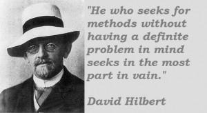 David hilbert famous quotes 2
