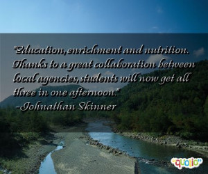 Education, enrichment and nutrition. Thanks to a
