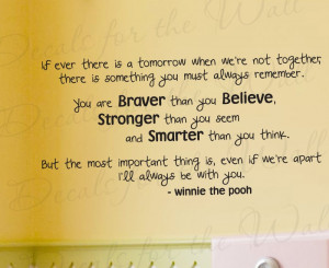 Christopher Robbin Winnie the Pooh Wall Decal Quote