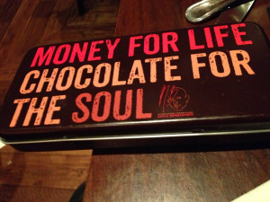 The cutest tin that our bill came in. I love quotes and I love ...