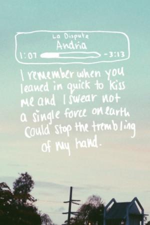 La Dispute - Andria | via Tumblr