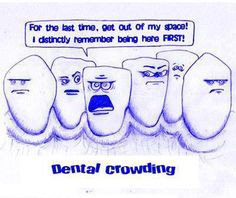 ... here first! Dental Crowding #Dentist #Dental Jokes #Hygienist #Quotes