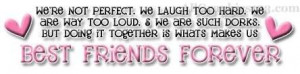 Best Friend Forever Quote Graphic For Share On Facebook
