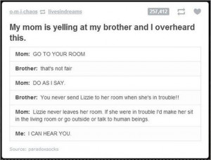 My Mom Is Yelling At My Brother And I Overheard This - Funny Quotes