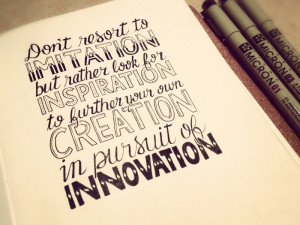 Imitation • Inspiration • Creation • Innovation