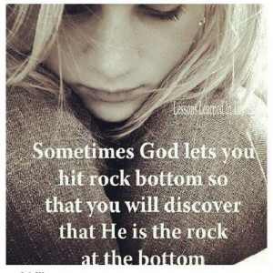God is my rock.