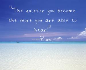 rumi art, peaceful living, inspirational