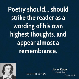 John Keats Poetry Quotes