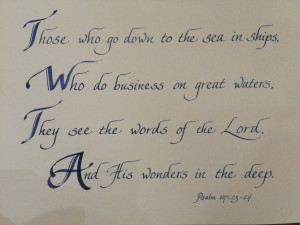 ... His wife is doing a room in red, white and blue. Very cool verse