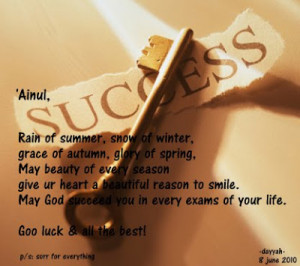 Best Of Luck Wishes For Exams Quotes ~ Wish Good Luck Quotes For Exam