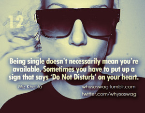 Being single doesn't necessarily mean you're available. Sometimes ...
