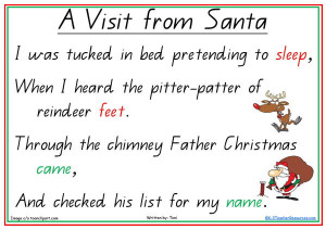 christmas poems for kids that rhyme