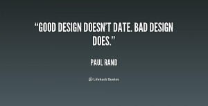 Quotes Good and Bad Design