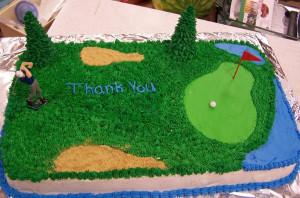Retirement Golf Cake