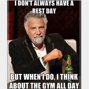 Gym Rest Day Meme