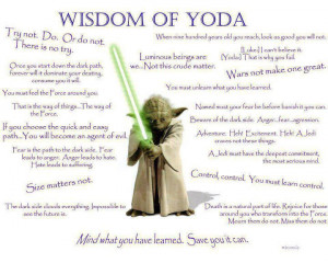 Lessons From Yoda: Fear is the path to the dark side….
