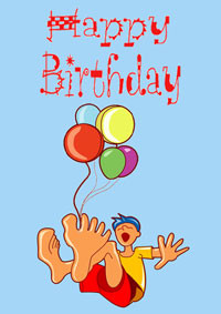 Balloon Birthday Card Quotes, Poems and Messages