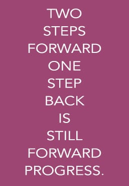 """Responses to """"Two steps forward, one step back."""""""