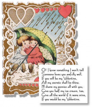 ... think many of the verses on these vintage Valentines are so wonderful