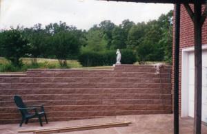 Alan Block Retaining Wall Auburn GA Railroad Ties Replaced Images
