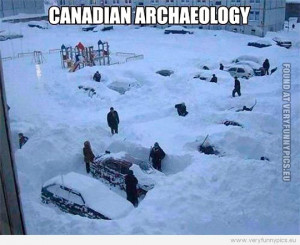Funny Picture - Canadian archaeology