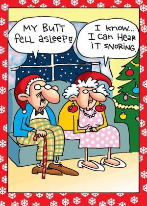 Funny Old Couple Butt Fell Asleep Cartoon Picture   My butt fell ...