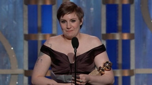 VIDEO: The writer and star of the HBO show Girls makes her acceptance ...