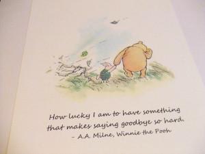 "saying goodbye so hard."" – A.A. Milne motivational inspirational ..."