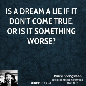 Bruce Springsteen Love Quotes
