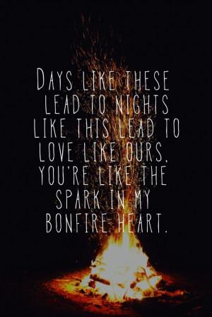 James blunt - bonfire heart Fav song atm :) xx