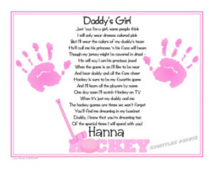 DIY DIGITAL Daddy's Girl© Hock ey Sports Poem 8x10 Print Baby ...