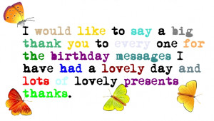 Thank You Quotes For Friends On Birthday ~ 25+ Thank You Quotes