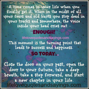 turning point that leads to success and happiness.