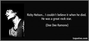 More Dee Dee Ramone Quotes