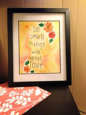 Mother Teresa quote ORIGINAL painting 11x14 on Etsy, $24.00