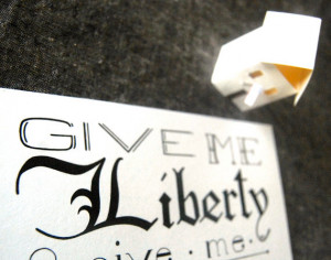 SALE // Discontinued // Liberty // Patrick Henry Quote // Liberty Or ...