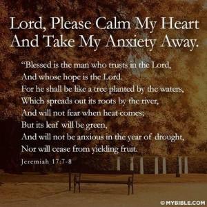 Anxiety prayer